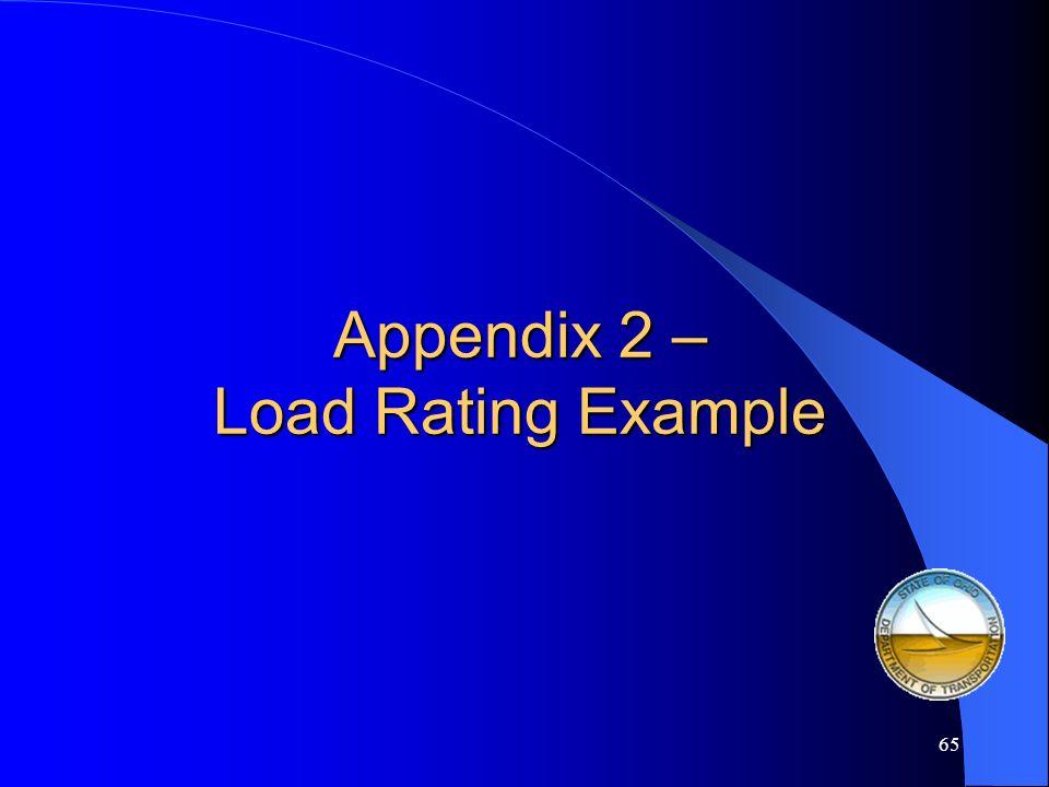 Appendix 2 – Load Rating Example