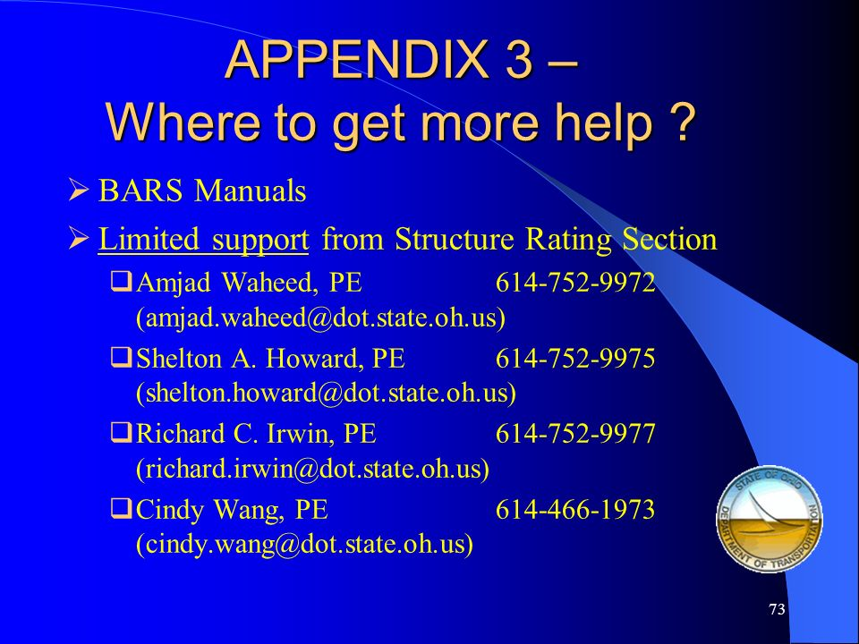 APPENDIX 3 – Where to get more help