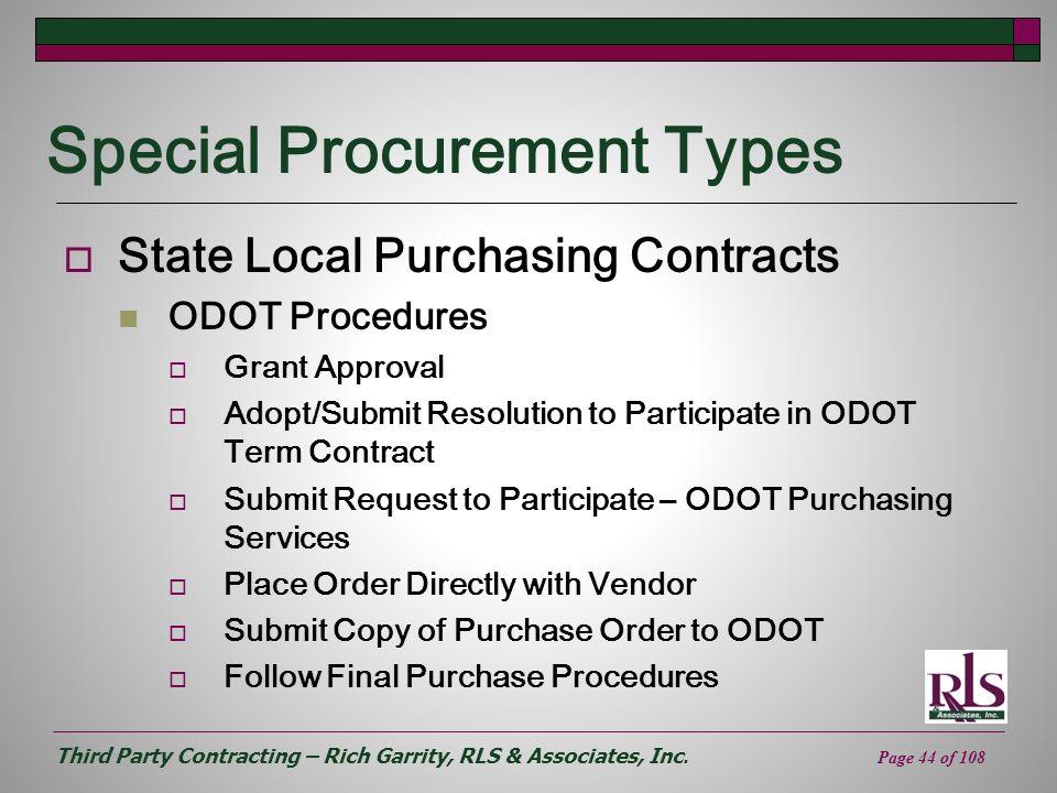 Special Procurement Types