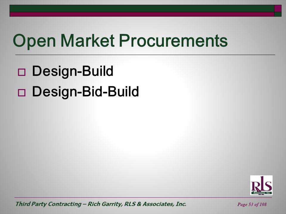 Open Market Procurements
