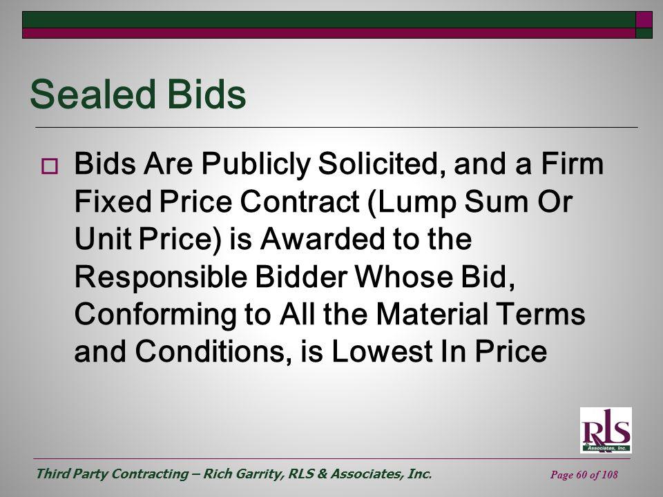 Sealed Bids