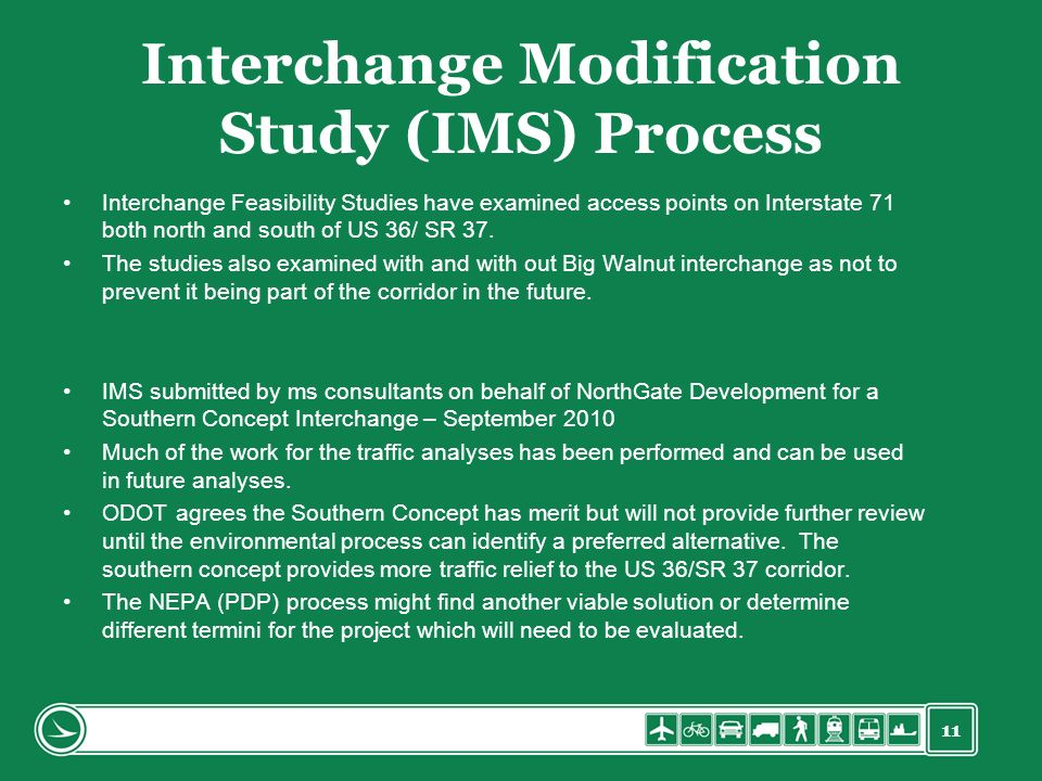 Interchange Modification Study (IMS) Process