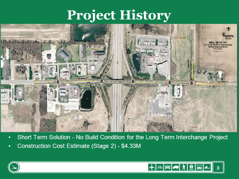 Project History Short Term Solution - No Build Condition for the Long Term Interchange Project.
