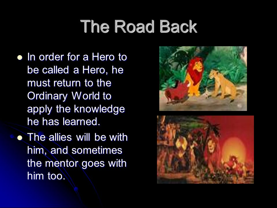 the lion king a hero s journey The pattern is more widely known as the hero's journey  was then unitized in  the development of disney films, including the lion king  refusal of the call:  some heroes refuse this call due to fear and/or pressures from.