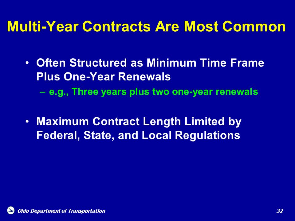 Multi-Year Contracts Are Most Common