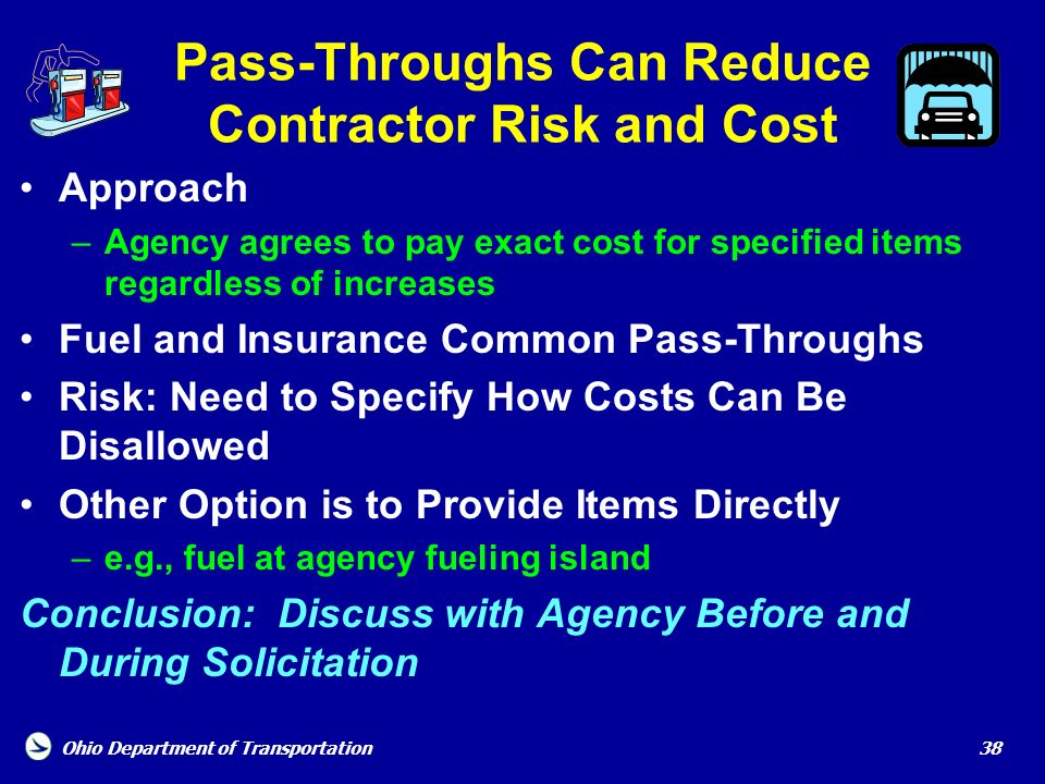 Pass-Throughs Can Reduce Contractor Risk and Cost