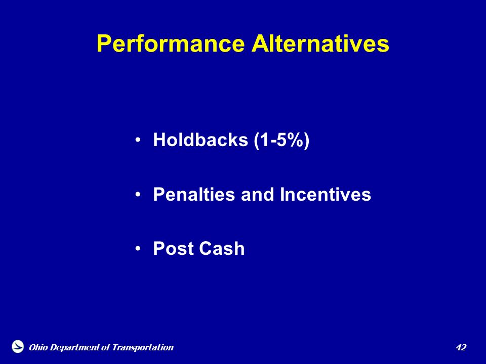 Performance Alternatives