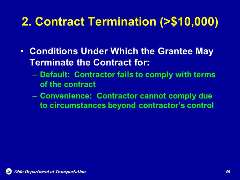 2. Contract Termination (>$10,000)