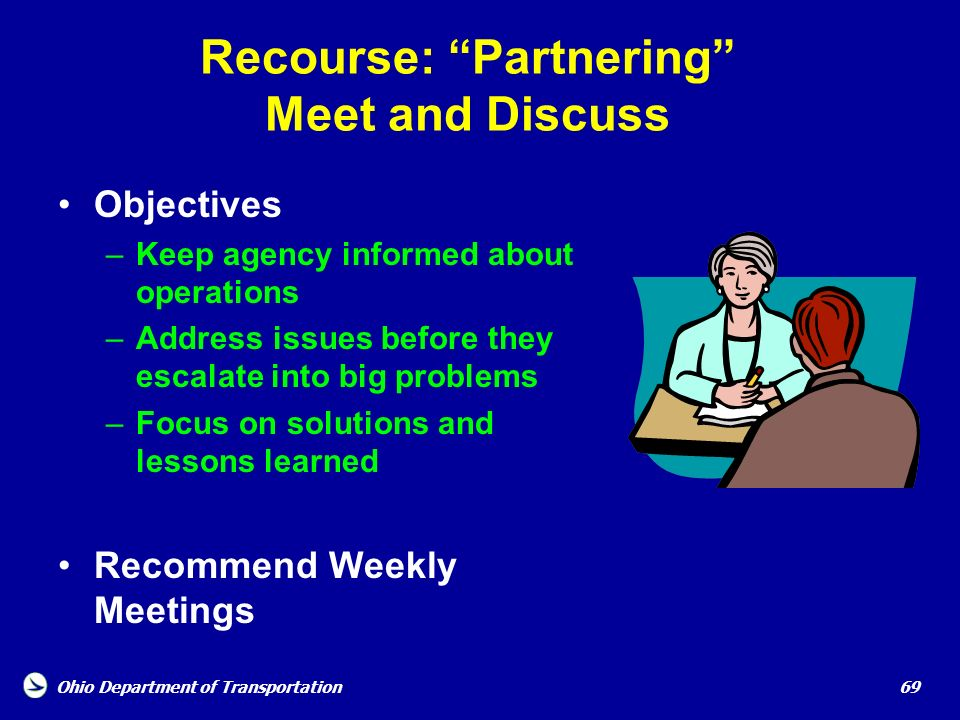 Recourse: Partnering Meet and Discuss