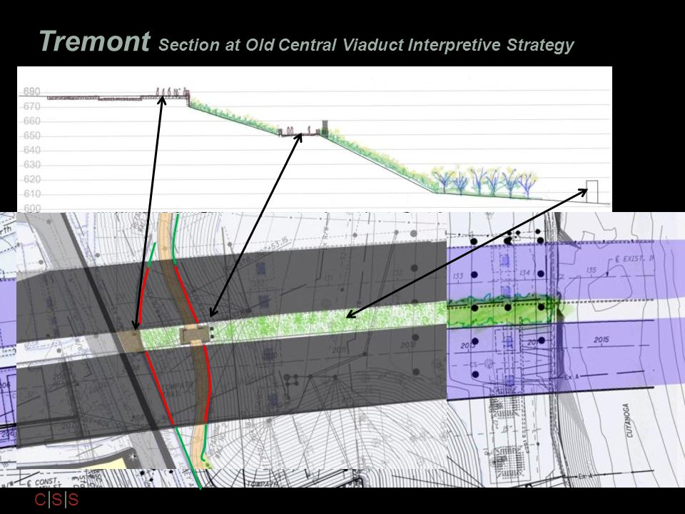 Tremont Section at Old Central Viaduct Interpretive Strategy