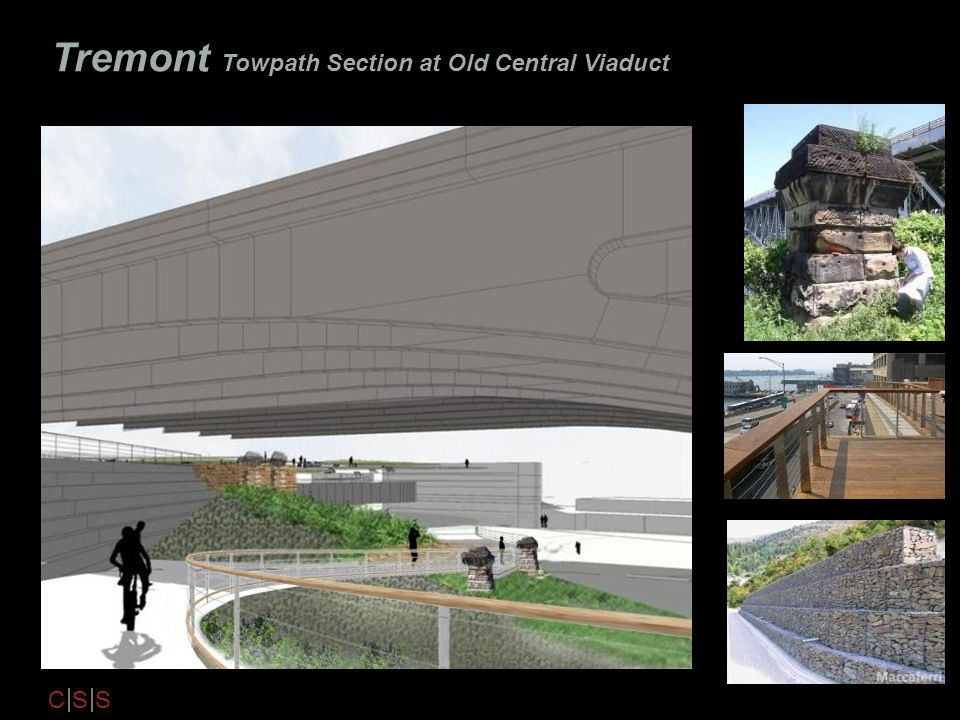 Tremont Towpath Section at Old Central Viaduct