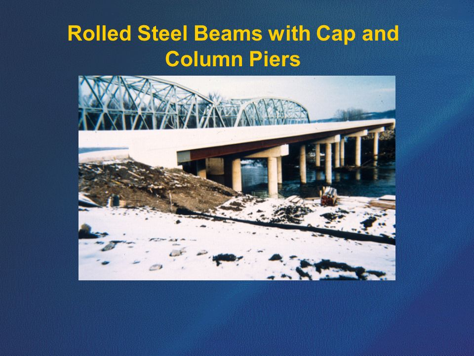 Rolled Steel Beams with Cap and Column Piers