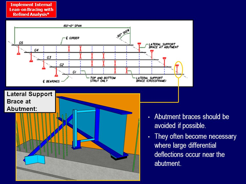 Abutment braces should be avoided if possible.