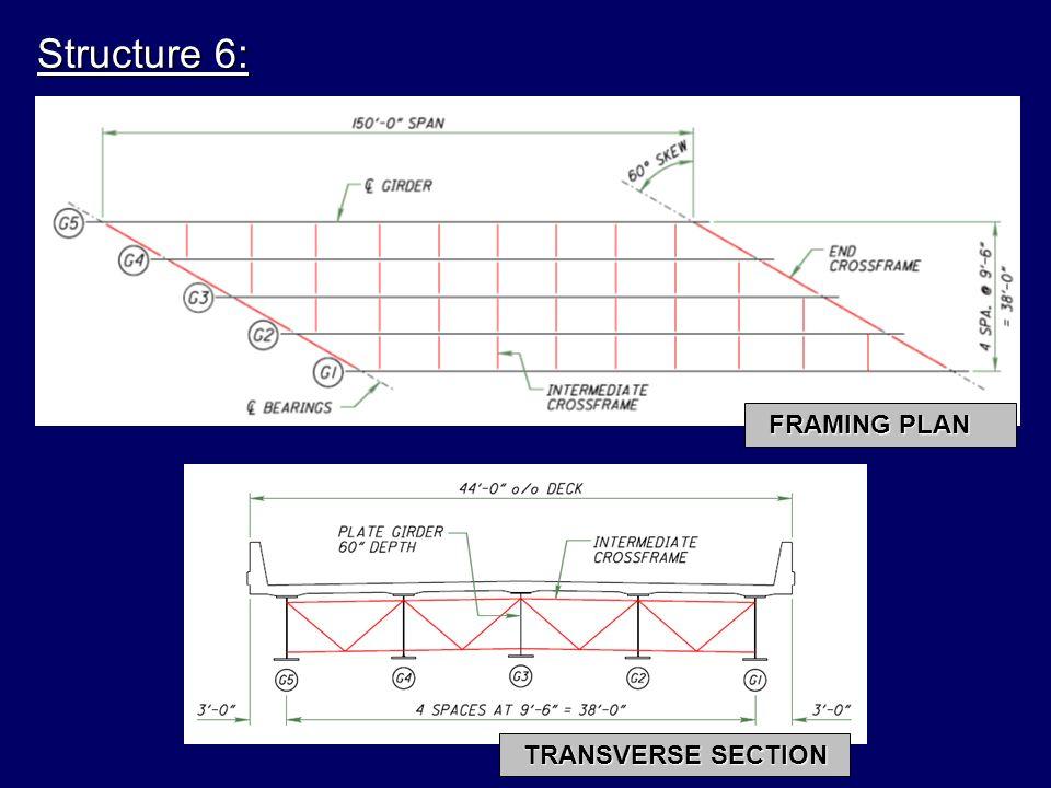 Structure 6: FRAMING PLAN TRANSVERSE SECTION
