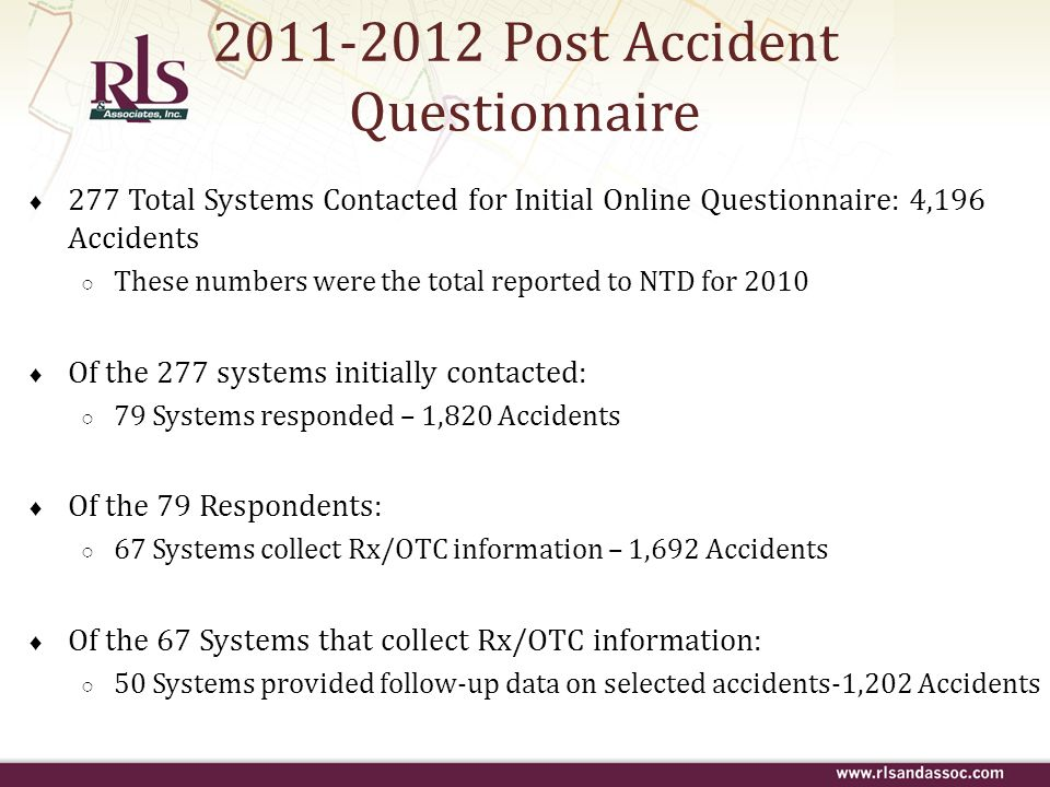 2011-2012 Post Accident Questionnaire