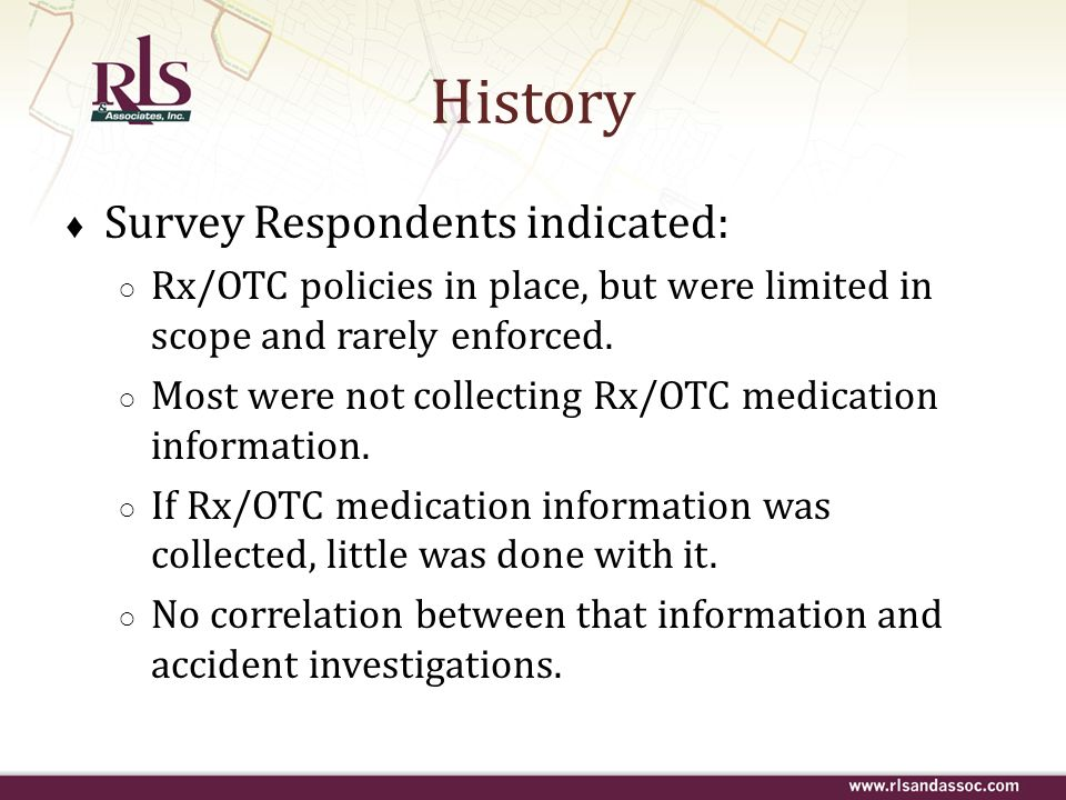 History Survey Respondents indicated: