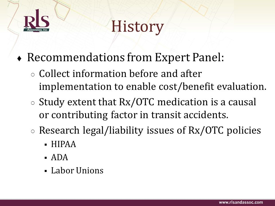 History Recommendations from Expert Panel: