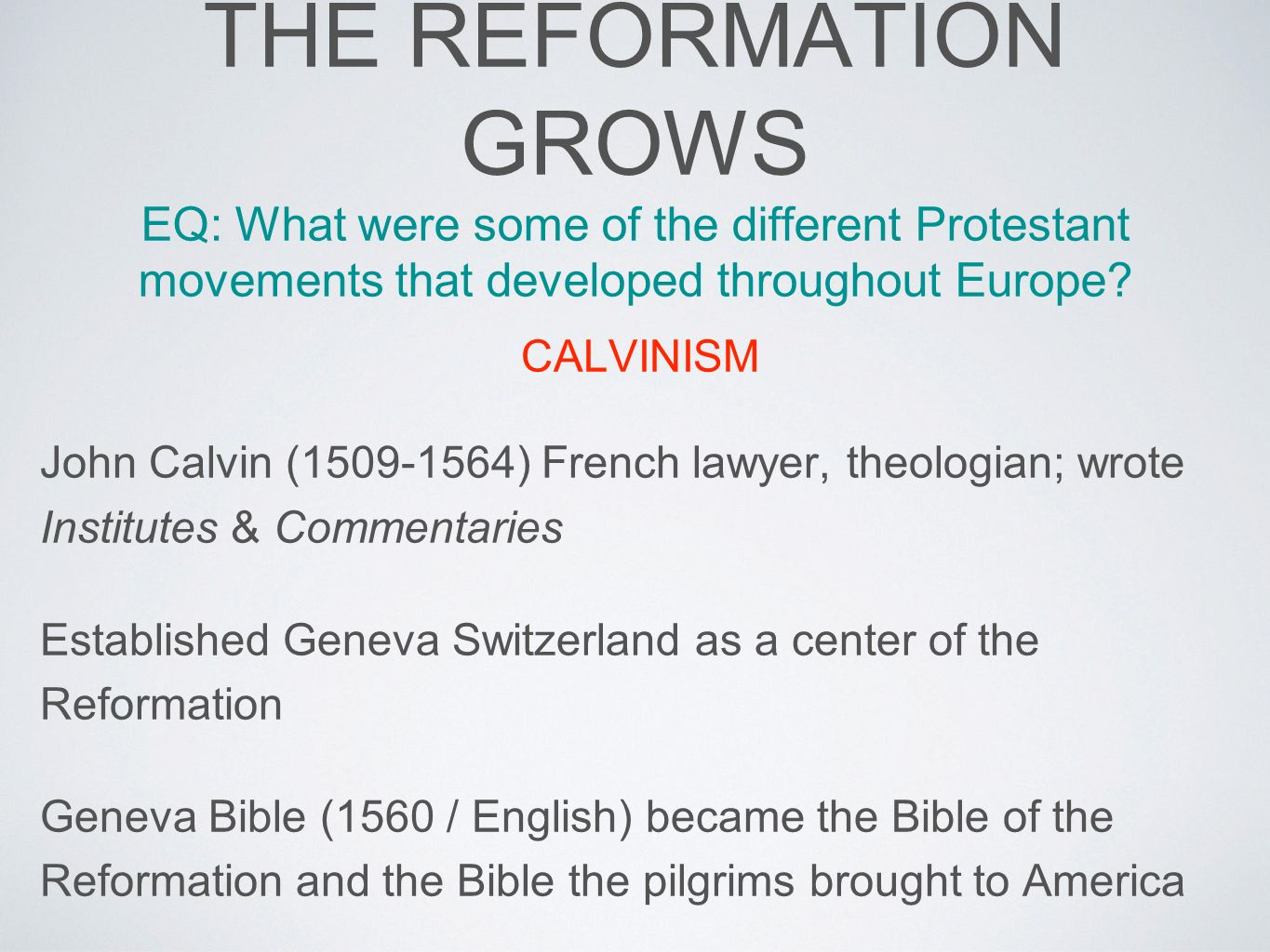 the impact of the protestant reformation in europe Many countries in europe followed the trend of protestant reformation and europe was divided by impact protestant denominations have multiplied in.