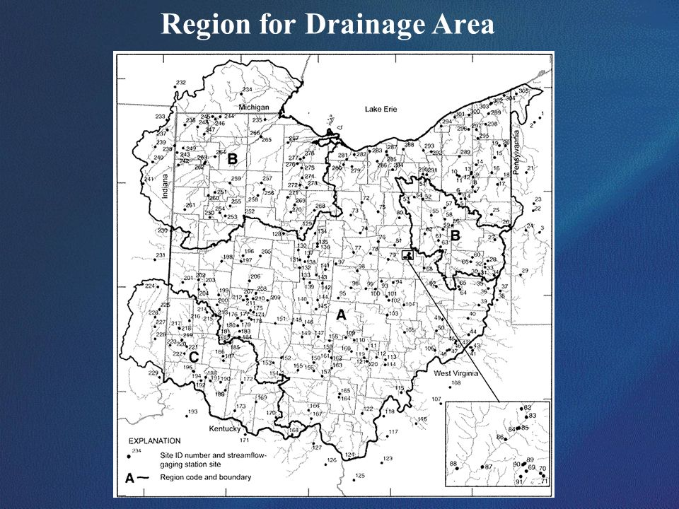 Region for Drainage Area