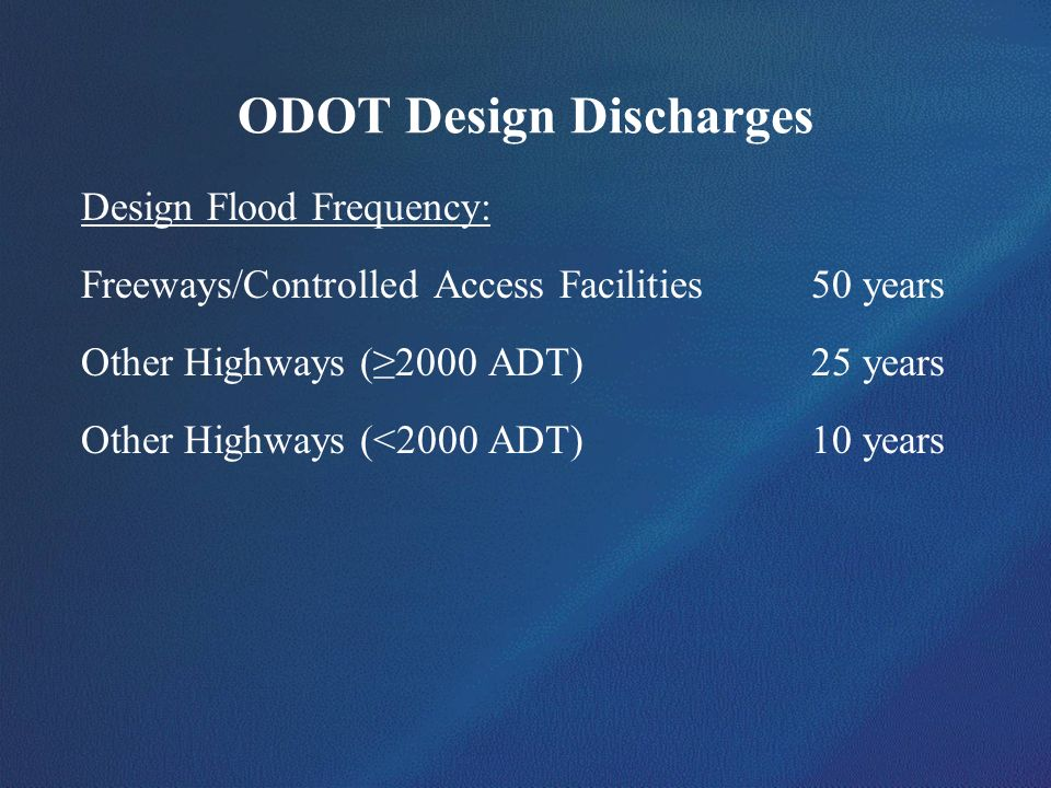 ODOT Design Discharges
