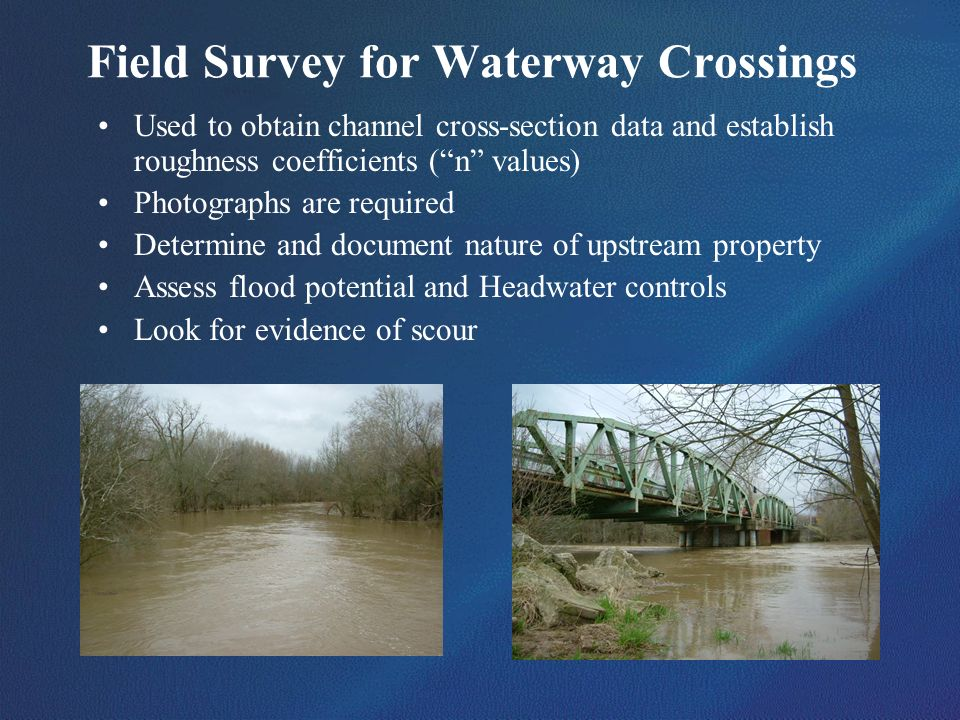 Field Survey for Waterway Crossings