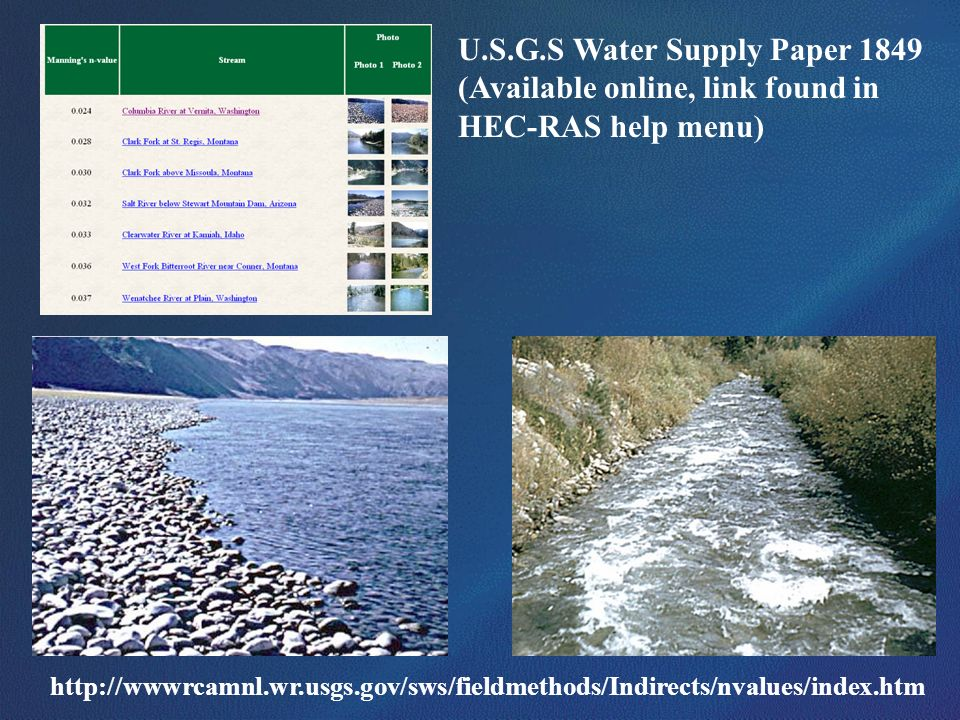 U.S.G.S Water Supply Paper 1849