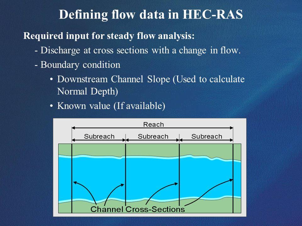 Defining flow data in HEC-RAS