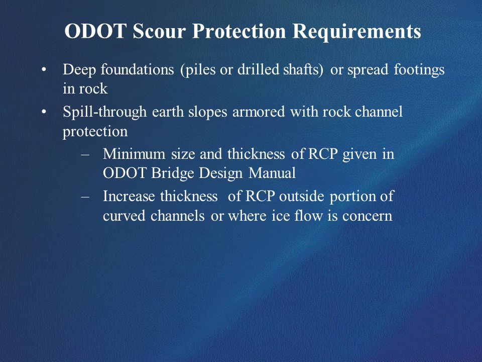 ODOT Scour Protection Requirements