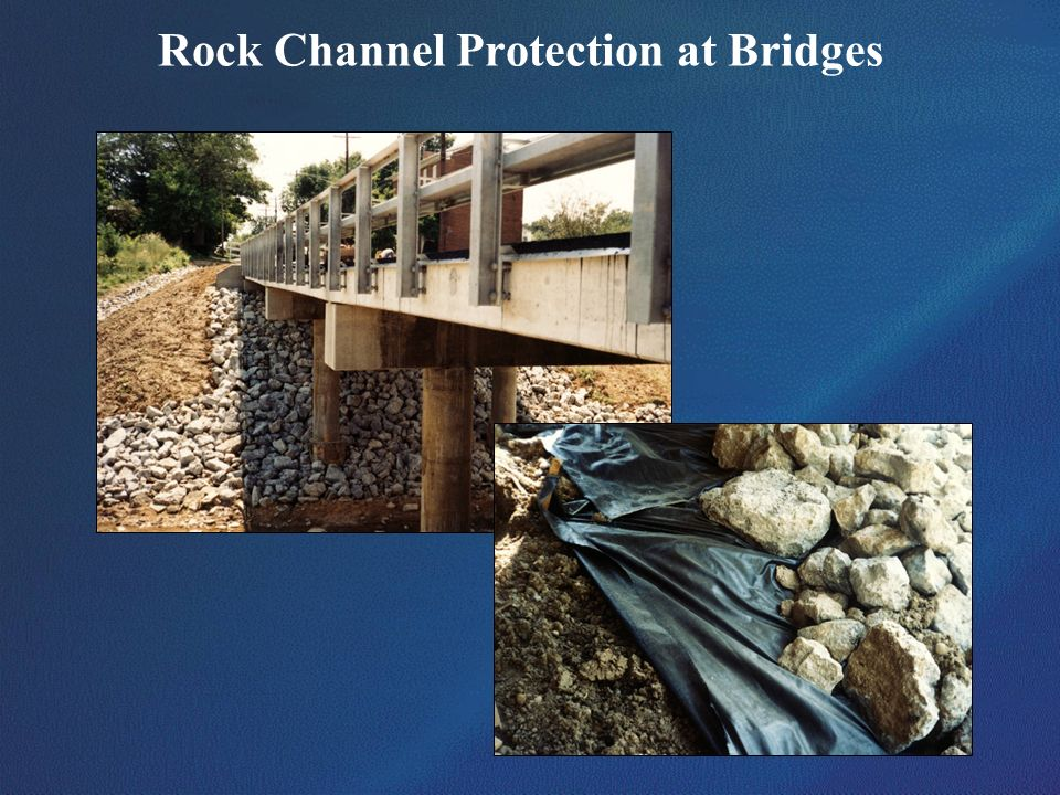 Rock Channel Protection at Bridges