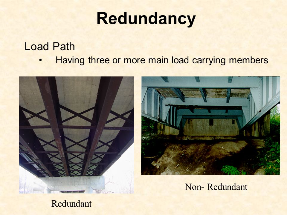 Redundancy Load Path Having three or more main load carrying members