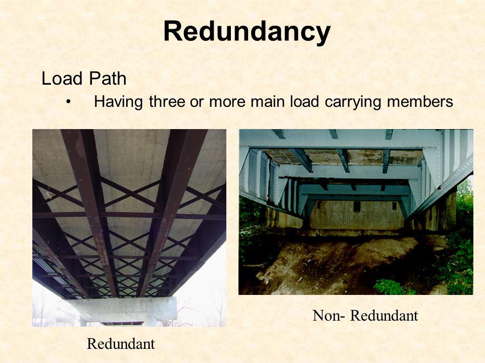 Redundancy Load Path Having three or more main load carrying members