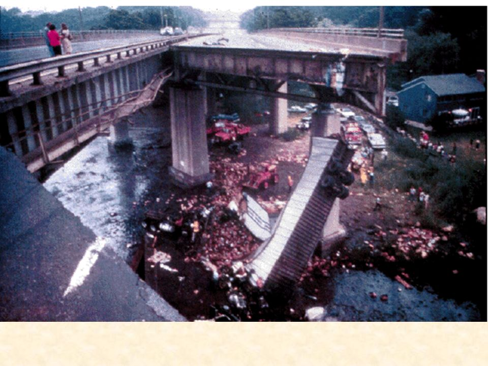Mianus River in Greenwich, Connecticut failed on June 28, 1983, when a suspended two-girder span
