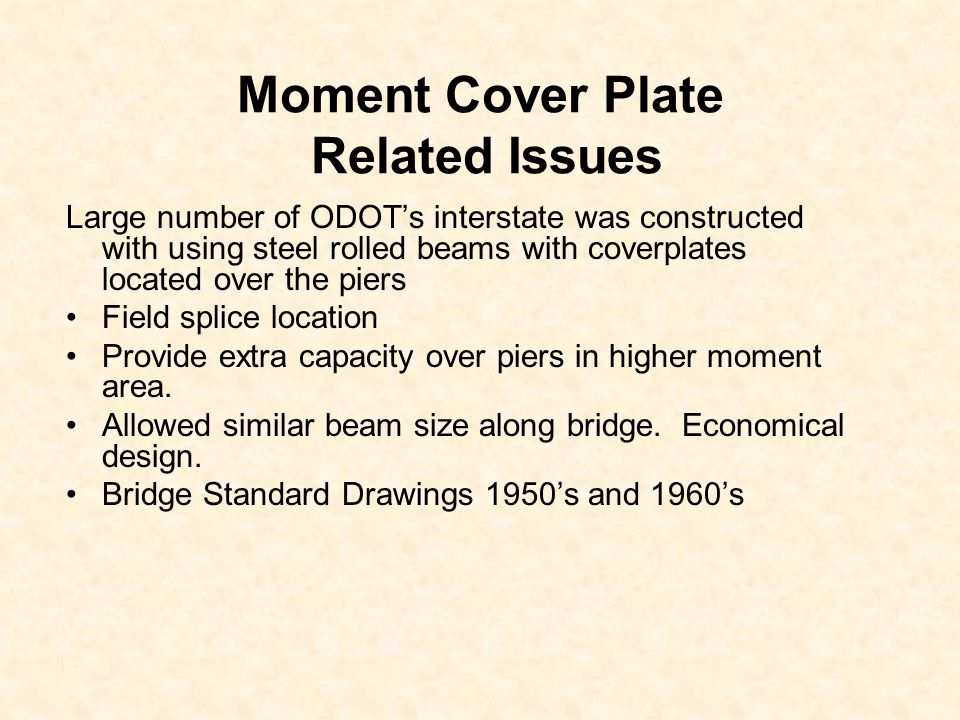 Moment Cover Plate Related Issues