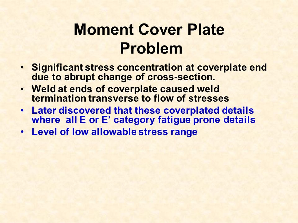 Moment Cover Plate Problem