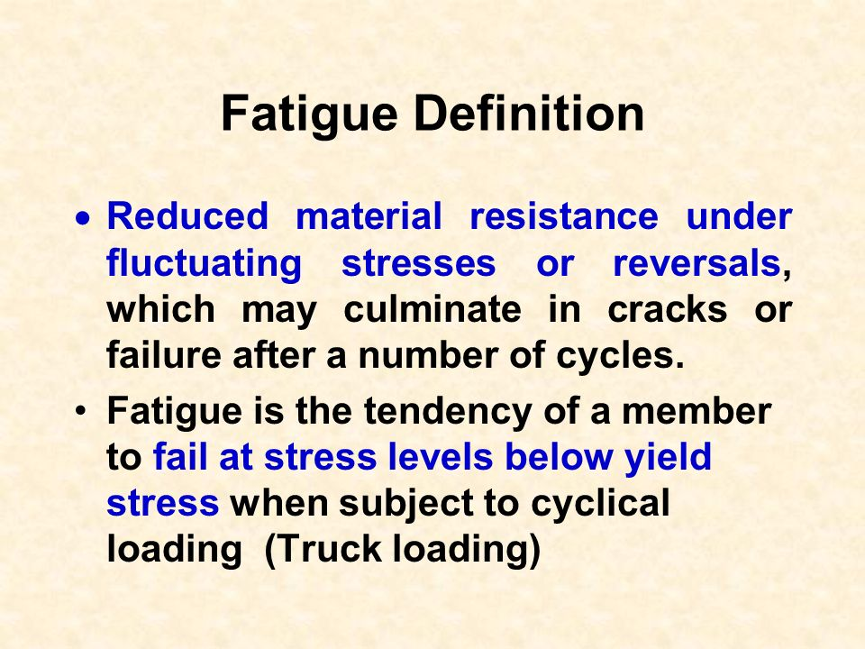 Fatigue Definition