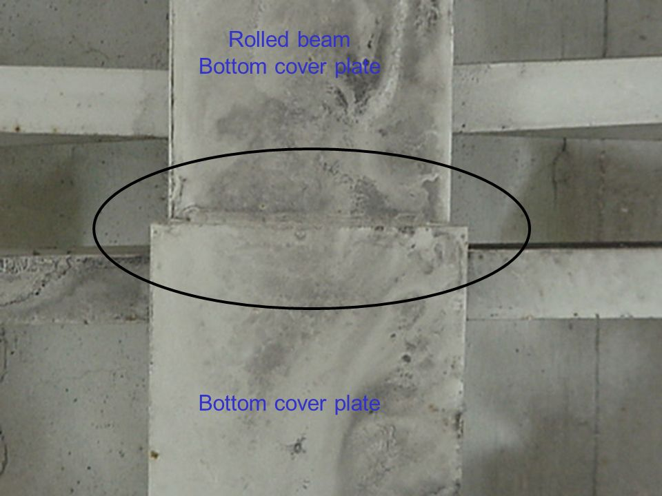 Rolled beam Bottom cover plate Bottom cover plate
