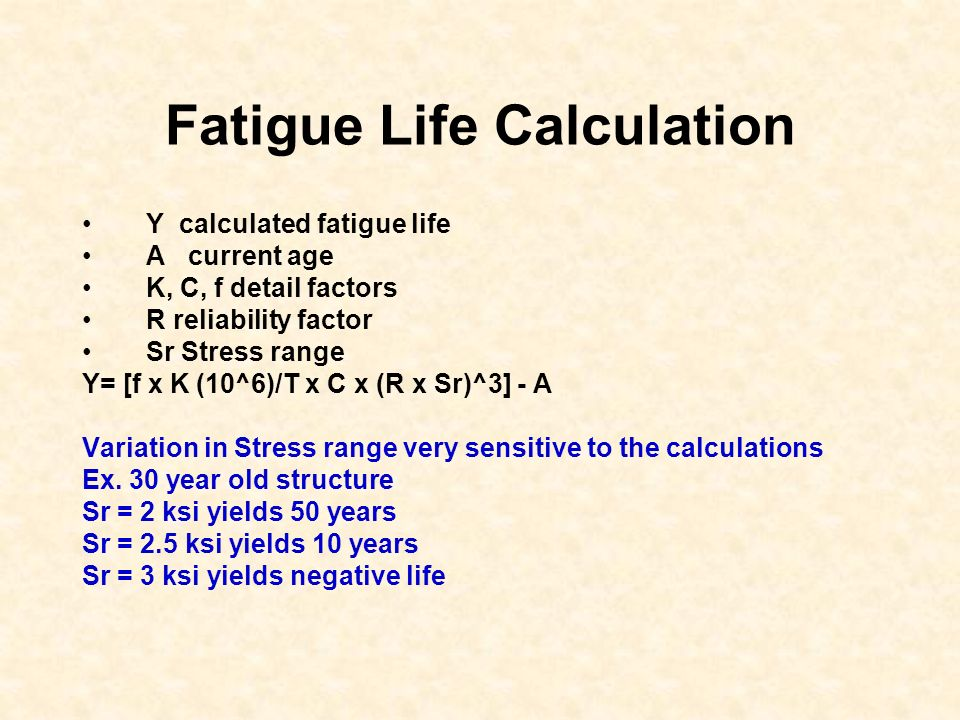 Fatigue Life Calculation