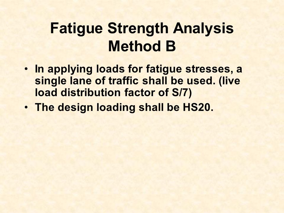 Fatigue Strength Analysis Method B