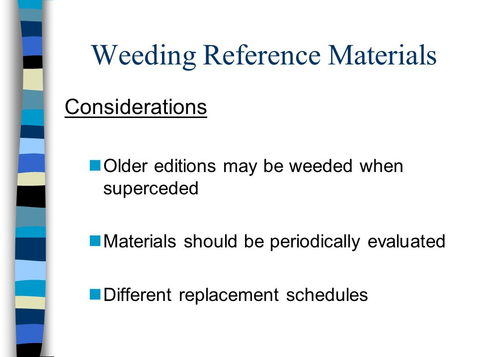 Weeding Reference Materials