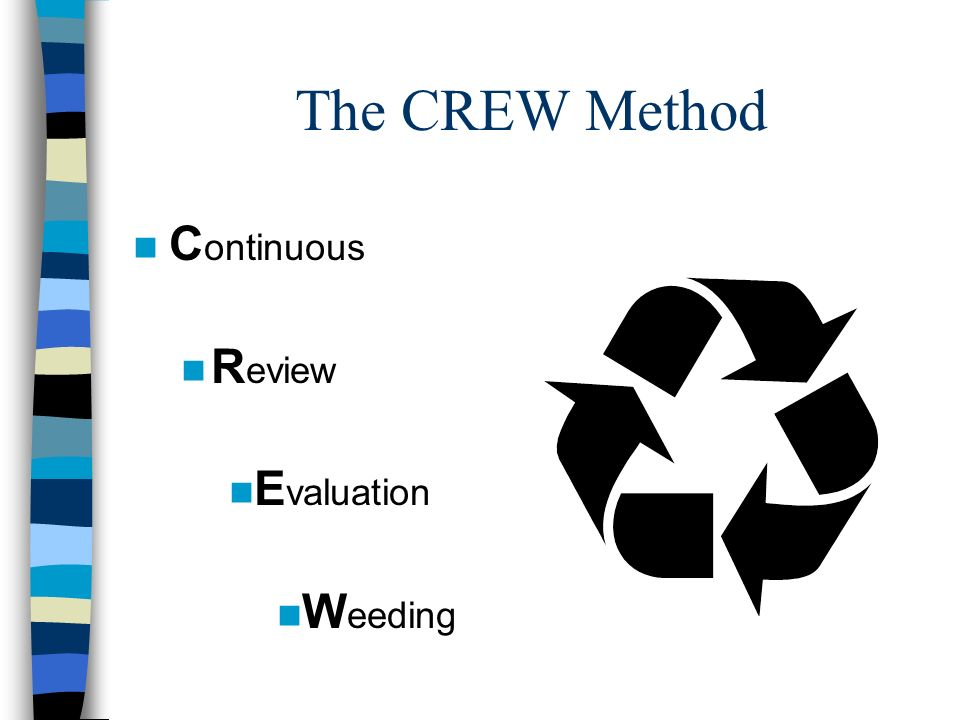 The CREW Method Continuous Review Evaluation Weeding