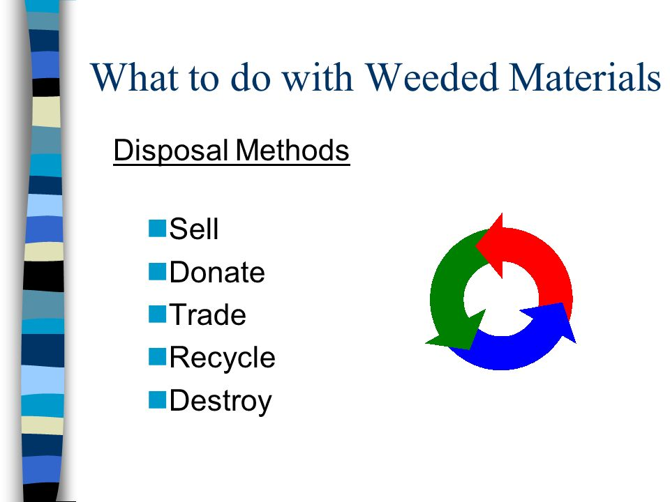 What to do with Weeded Materials