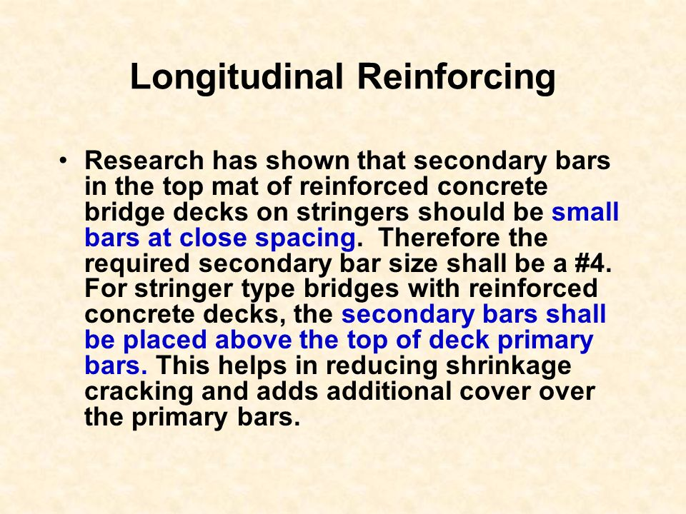 Longitudinal Reinforcing