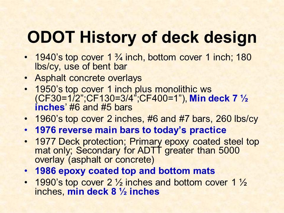 ODOT History of deck design
