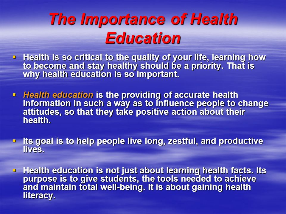 importance of health education pdf