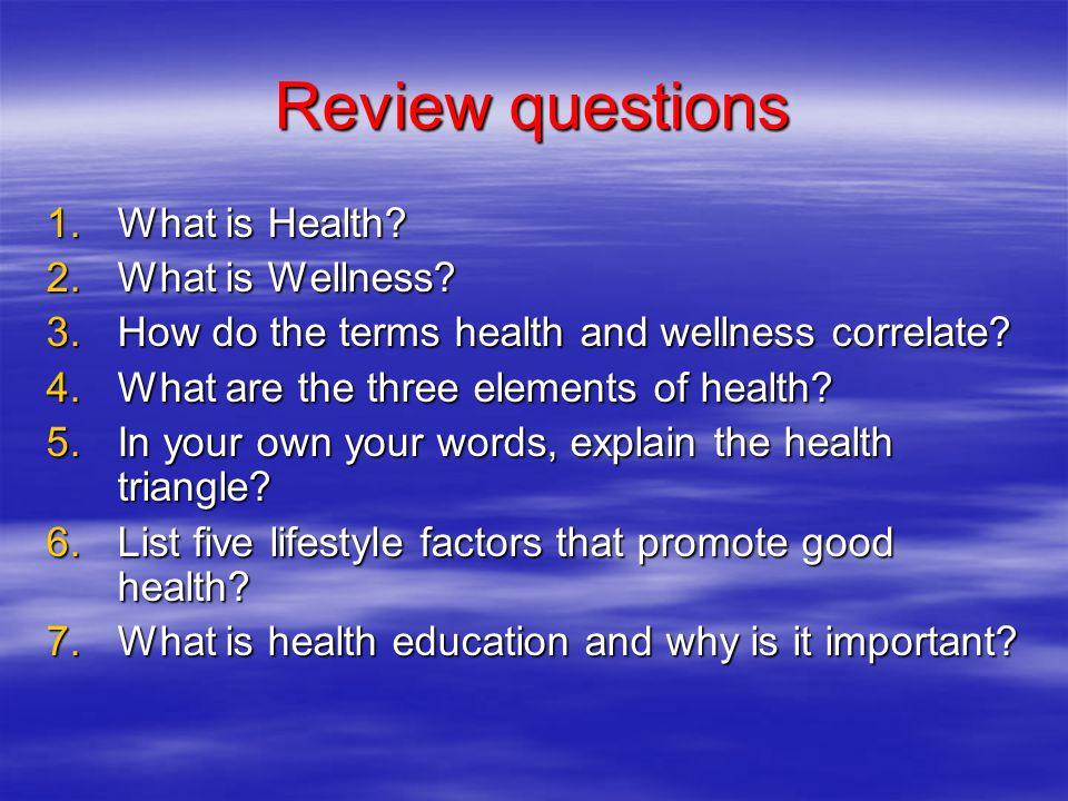 elements of health and wellness View homework help - elements of health and wellness from sci 163 at university of phoenix sci/163 elements of health and wellness.