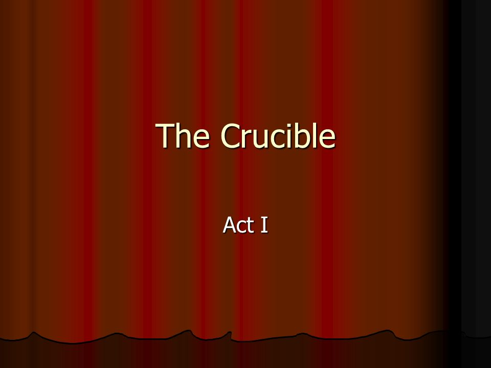 the crucible comparison essay