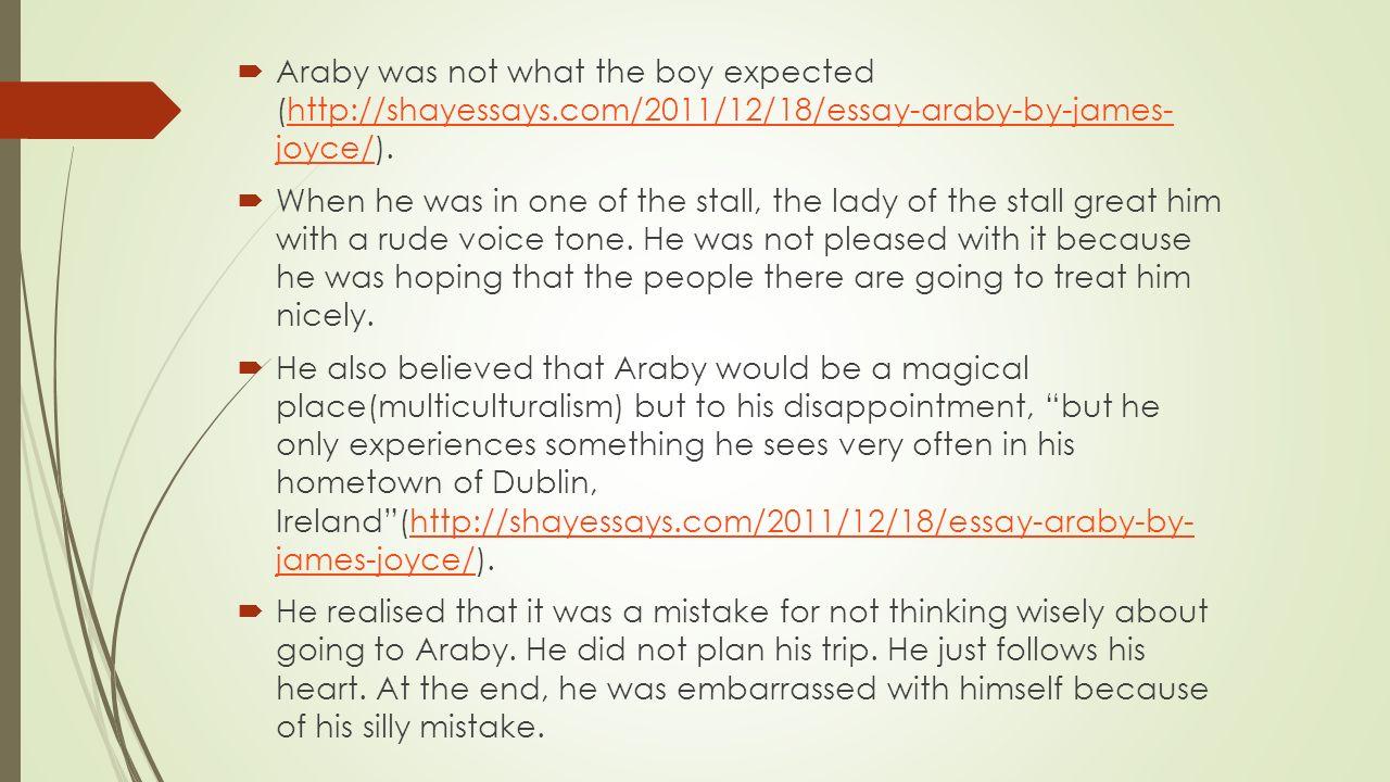 critical essay araby