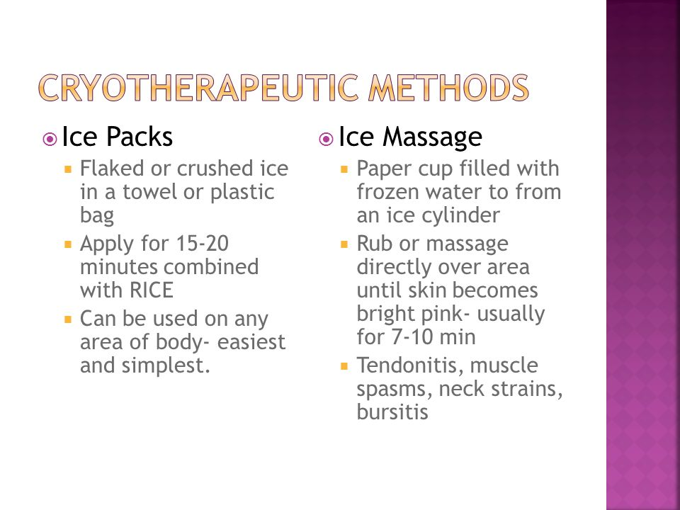 Cryotherapeutic Methods