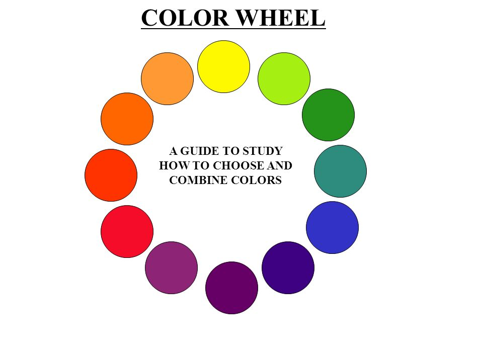 A GUIDE TO STUDY HOW TO CHOOSE AND COMBINE COLORS