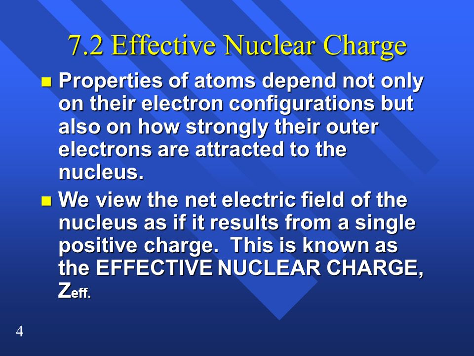 7.2 Effective Nuclear Charge